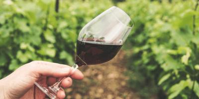 kadehte kırmızı şarap